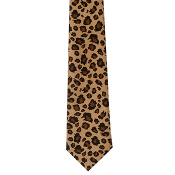 Leopard Animal Print Men's Neck Tie
