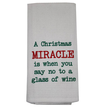 Christmas Miracle Kitchen Dishtowel