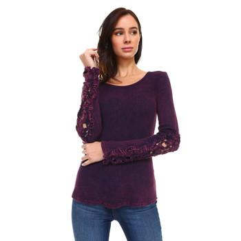 Eggplant Purple Long Sleeve Shirt