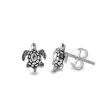 Small sea turtle stud earrings.