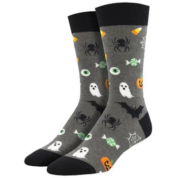 Very Spooky Creatures Halloween Men's Crew Socks