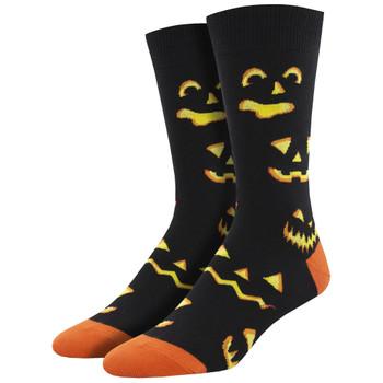 Pumpkin Carving Halloween Men's Crew Socks
