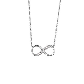 Infinity symbol with clear CZ