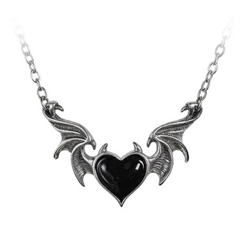 P896 - Black Soul Bat Wing Necklace