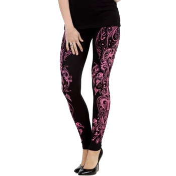 Vocal pink swirl floral print with rhinestones.