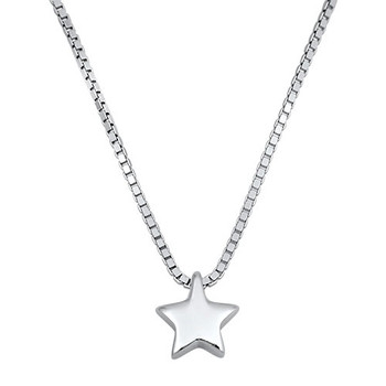 Sterling silver star necklace.