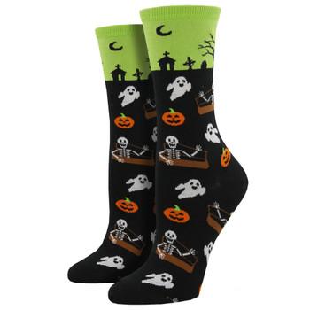 Halloween Undead Friends Women's Crew Socks
