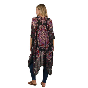 Backside tribal boho style kimono lightweight jacket.