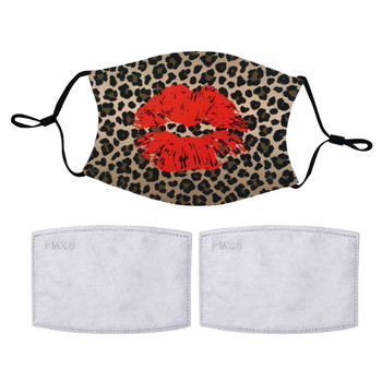Animal Print Leopard Kiss Face Mask