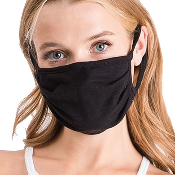 Cotton Black Mask Face Covering