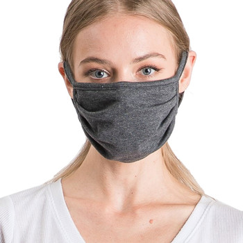 Charcoal Grey Cotton Face Mask