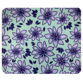 Purple Flowers Mouse Pad Mat