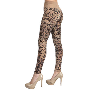 Vocal Apparel Leopard Leggings side view