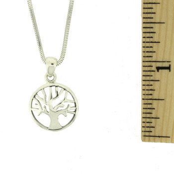 Tree of Life Sterling Silver Pendant Necklace Symbol
