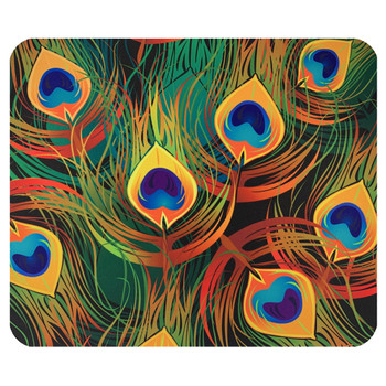 Peacock Feathers Mouse Pad Mat