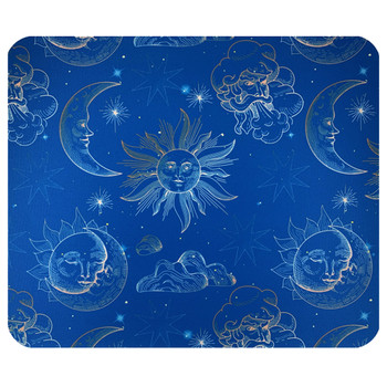 Celestial Sky Suns and Moons Mouse Pad Mat