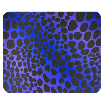 Blue Purple Leopard Mouse Pad Mat