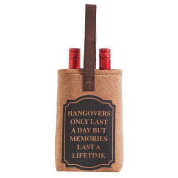 Memories 2 Bottle Wine Bag Carrier
