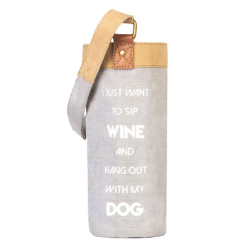 Hangout With My Dog Wine Carrier Bag