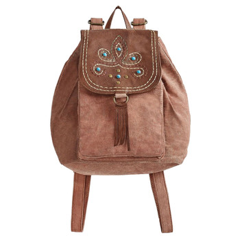 Mona B Dreamweaver Canvas Backpack Purse