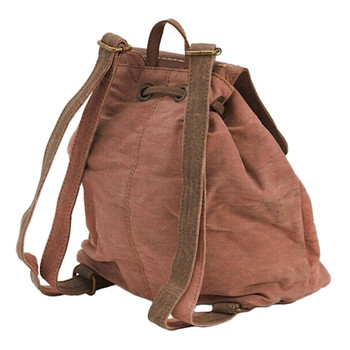 Mona B Dreamweaver Canvas Backpack Purse back view