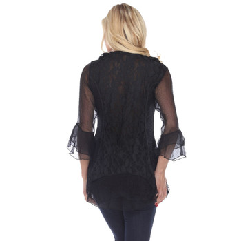 Pretty Angel Frilly Black Top back view