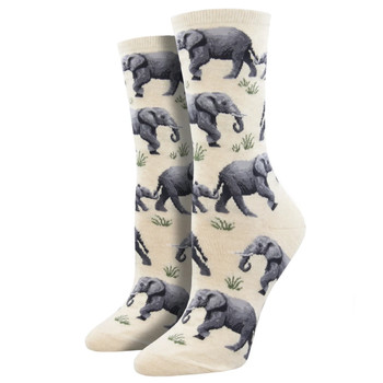 Raising a Herd of Elephants Women's Crew Socks