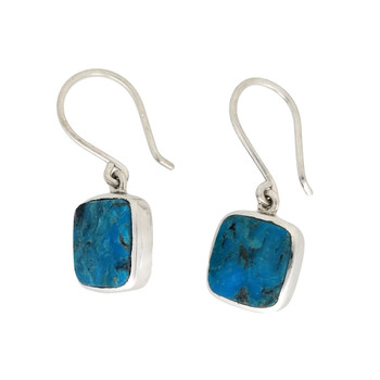 Campitos Turquoise square earrings.