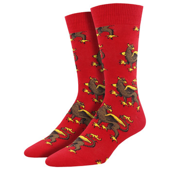 Griffin Mythical Creature Men's Crew Socks