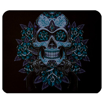 Guns and Roses Sugar Skull Mouse Pad Mat