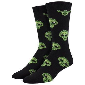 Area 51 Alien Men's Bamboo Crew Socks