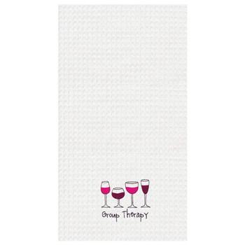 Group Therapy Wine Kitchen Dishtowel