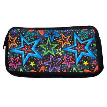 Lots of Stars Cosmetic Makeup Bag Zippered Pouch