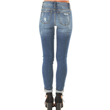 Distressed Jeans with Leopard Print Patch back view