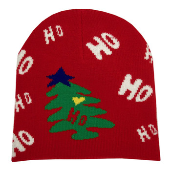 Ho Ho Ho Christmas Tree Beanie Cap