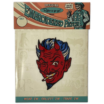 Handsome Devil Iron On Embroidered Patch packaging view
