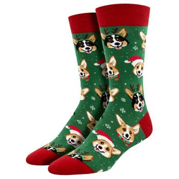 Happy Holiday Dogs Men's Crew Socks
