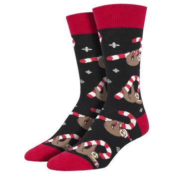 Merry Slothmas Men's Crew Socks