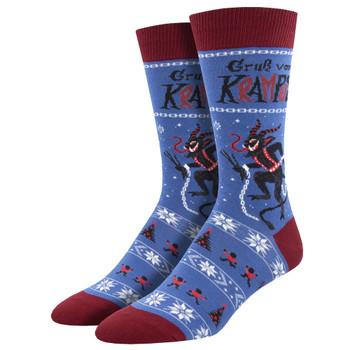 Krampus Christmas Demon Men's Crew Socks