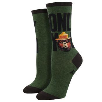 Smokey The Bear Only You Women's Crew Socks
