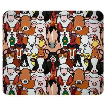 Cartoon Farm Animals Mouse Pad Mat