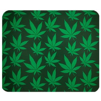 Green Cannabis Mouse Pad Mat