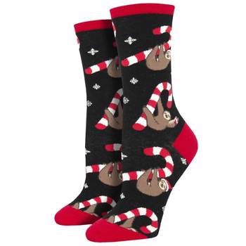 Merry Slothmas Holiday Women's Crew Socks