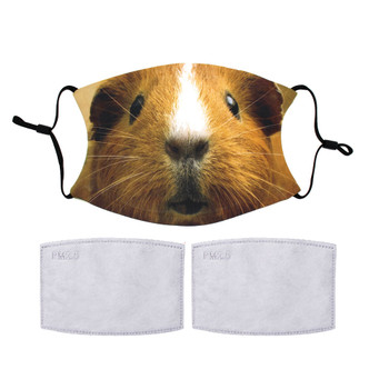 Guinea Pig reuseable face mask with 2 filters.