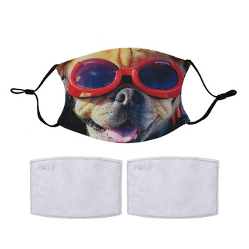 Puggle in doggles reuseable face mask.