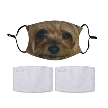 Yorkshire Terrier dog reuseable mask.