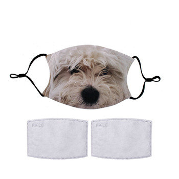 Lulu Maltese Poodle mix dog reuseable mask.