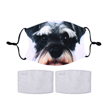 Schnauzer dog reuseable face mask.