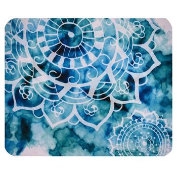 Watercolor Mandala Flower Design Mouse Pat Mat