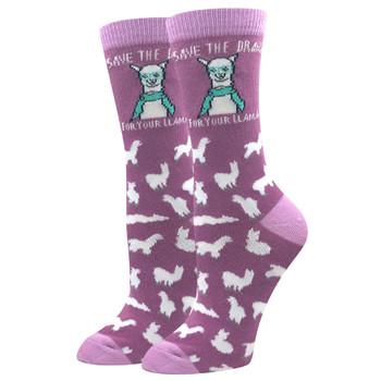 Save The Drama For Your Llama Women's Crew Socks